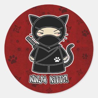 Het Kat van Ninja! In Rode Sticker