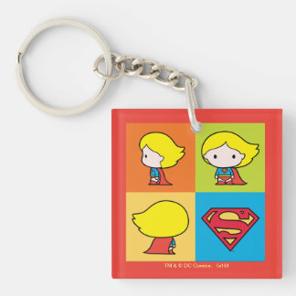 Het Keerpunt van het Karakter van Supergirl van 2-Zijden Vierkante Acryl Sleutelhanger
