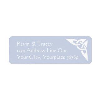 Het Keltische Etiket van het Adres van de Knoop -