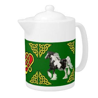Het Keltische ontwerp van Scotalnd/Zigeuner Vanner