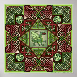 Het Keltische Poster van de Kunst van het Labyrint