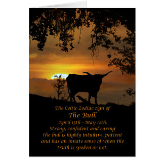 Het Keltische Teken van de Dierenriem van de Stier Kaart