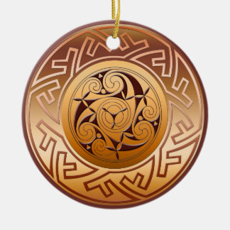 Het Keltische Zeer belangrijke en Spiraalvormige Rond Keramisch Ornament