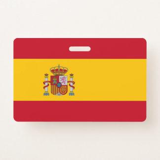 Het Kenteken van de naam met vlag van Spanje Badge