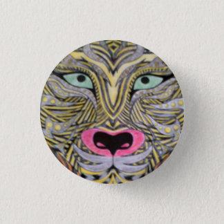 Het kenteken van de tijger ronde button 3,2 cm