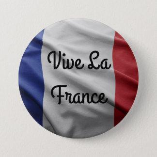 Het Kenteken van La Frankrijk van Vive Ronde Button 7,6 Cm
