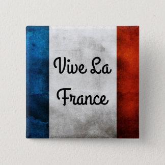 Het Kenteken van La Frankrijk van Vive Vierkante Button 5,1 Cm