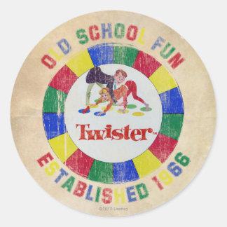 Het Kenteken van Twister Ronde Sticker