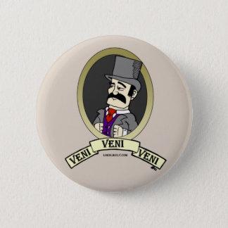 Het Kenteken van Veni Ronde Button 5,7 Cm