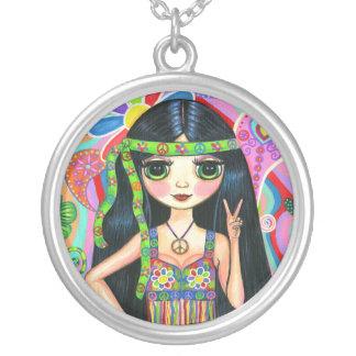 Het Ketting van het Meisje van de Hippie van het
