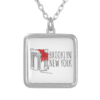 Het Ketting van Kerstmis van New York NYC van de Zilver Vergulden Ketting