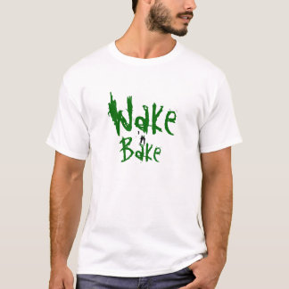 Het kielzog en bakt t shirt