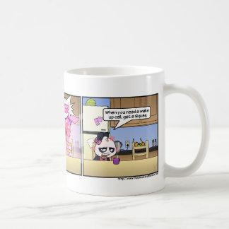 Het kielzog roept op koffiemok