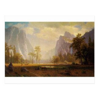 Het kijken omhoog de Vallei Yosemite - Albert Briefkaart