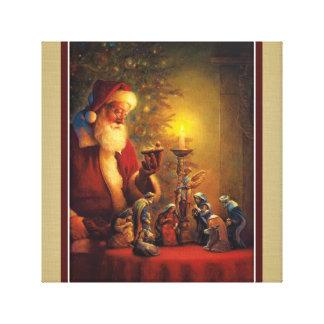 Het Kind van Christus van de Geboorte van Christus Canvas Afdrukken
