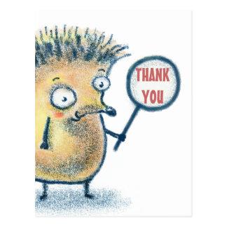 Het Kind van de Illustratie van de egel dankt u Briefkaart