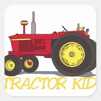 Het Kind van de tractor Vierkante Sticker