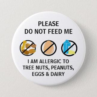 Het Kind van het Ei van de noot Dairy Allergy Do Ronde Button 7,6 Cm