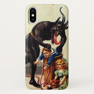 Het Kind van Krampus in Mand Vakantie Kerstmis iPhone X Hoesje