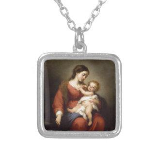 Het Kind van Virgin en van Christus Zilver Vergulden Ketting