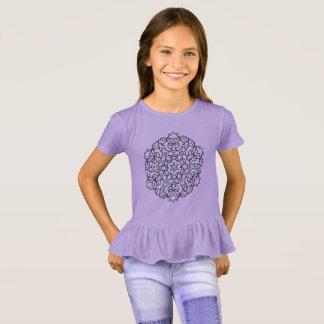 Het kinder art. van Mandala van de Lavendel van de T Shirt