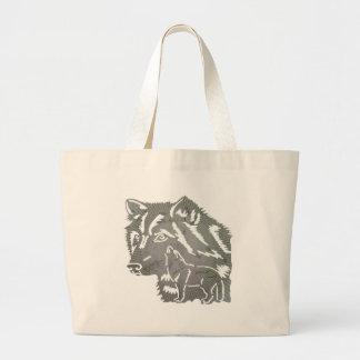 Het kinder Canvas tas van de Wolf