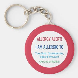 Het kinder Gepersonaliseerd Alarm van de Allergie Sleutelhanger
