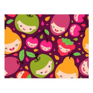 Het kinder patroon van het fruit briefkaart
