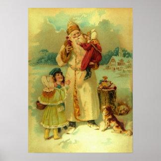 Het Kinder Puppy van de Victoriaans Vintage Poster