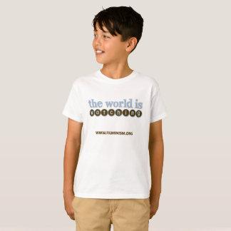 Het Kinder T-shirt van Filminism - de Wereld let