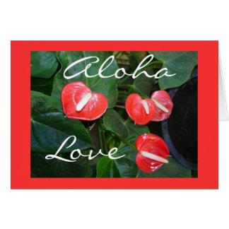 Het klantgerichte BloemenWenskaart van de Liefde Kaart