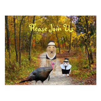 Het klantgerichte Briefkaart van de Thanksgiving