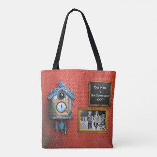 Het klantgerichte Canvas tas van de Klok van de