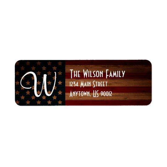 Het klantgerichte Etiket van het Adres van de Vlag Retouretiket