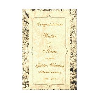 Het klantgerichte Jubileum van de Gouden bruiloft Canvas Afdruk