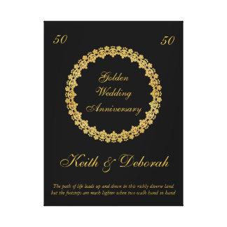 Het klantgerichte Jubileum van de Gouden bruiloft Canvas Bedrukken