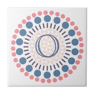 Het klantgerichte Monogram omcirkelt Ceramiektegel Tegeltje