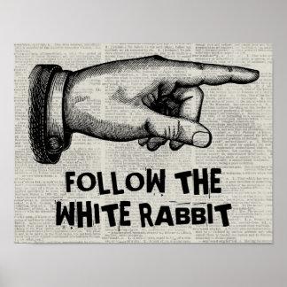 Het klantgerichte Vintage Teken van de Hand Poster