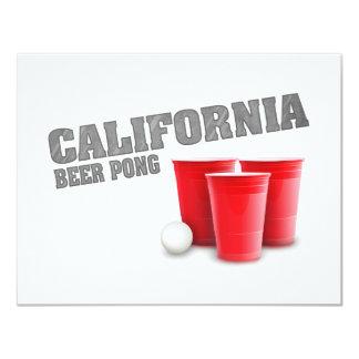 Het klassieke Bier Pong van Californië 10,8x13,9 Uitnodiging Kaart