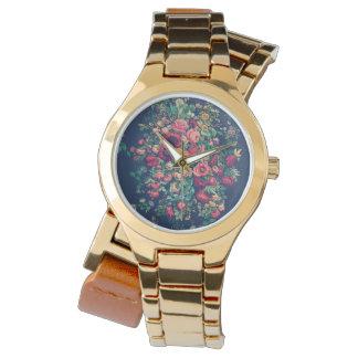 Het Klassieke Blauwe Kleurrijke Damast van vintage Horloges