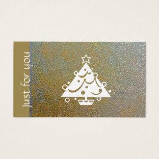Het klassieke Certificaat van de Gift van Kerstmis Visitekaartjes