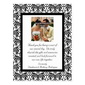Het klassieke Huwelijk dankt u Briefkaart