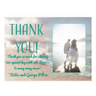 Het klassieke Huwelijk van het Strand dankt u Briefkaart