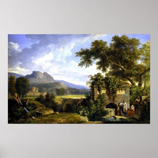 Het Klassieke Landschap van Pierre-Henri DE Poster