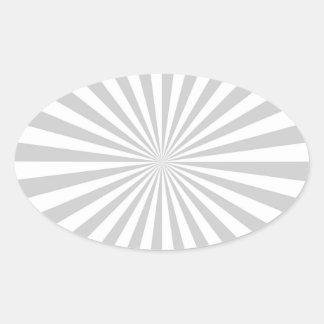 Het klassieke Lichtgrijze Spinnewiel van de Ovale Sticker