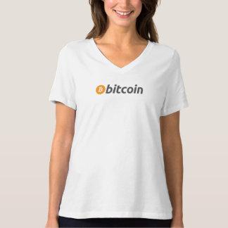 Het klassieke logo van Bitcoin met tekst T Shirt