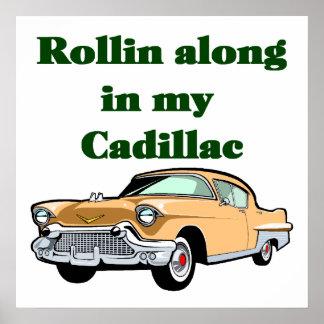 Het klassieke Poster van Cadillac van jaren '50