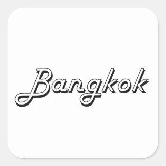 Het Klassieke Retro Ontwerp van Bangkok Thailand Vierkante Sticker