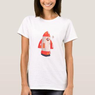 Het klassieke Ruimteschip van de Raket met T Shirt
