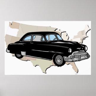 Het klassieke Vintage Poster van Chevy van jaren '